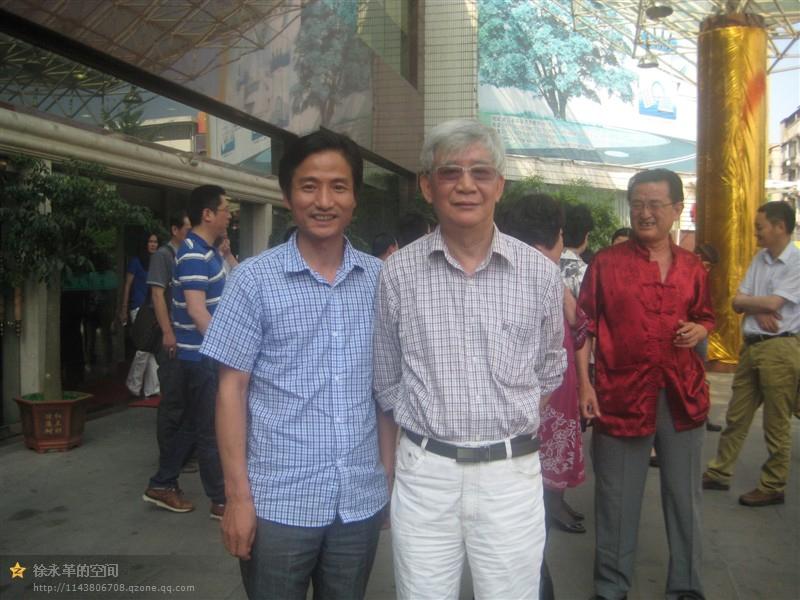 徐永革和老艺术家马来法合影